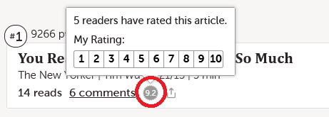 Rating Control Screenshot